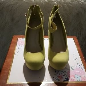 Platform Pumps in a Vibrant Yellow